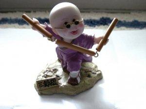 Little Asian Boy Practicing Martial Arts Figurine #300166