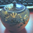 Small Sky Blue and Sand Brown Ginger Jar #300663
