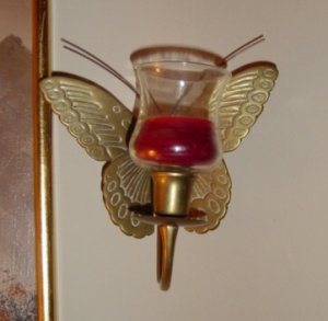 Small Brass Butterfly Wall Sconce #300129