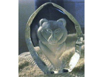 Front View Polar Bear Paperweight #300184