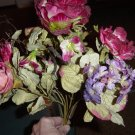 Bunch of Roses Silk Flowers Hydrangea Berries  #300380