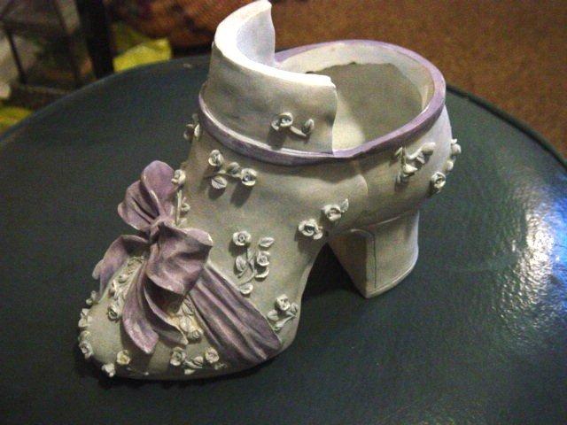 Light Blue and Lavender Highheel Shoe Planter #300190