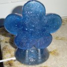 Blue Sparkle Gel Flower Night Light #300529