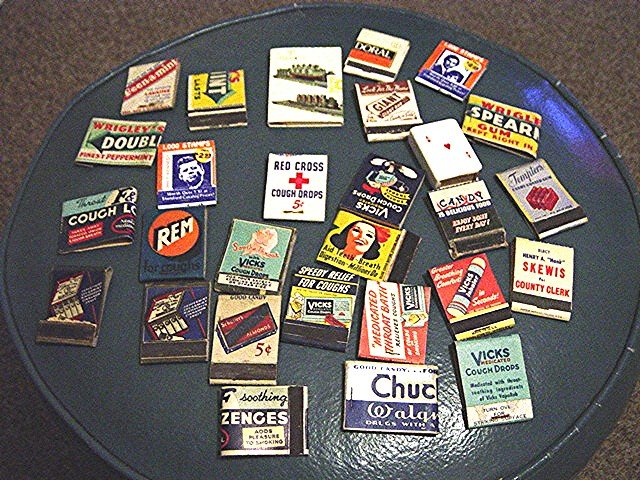 Group of Twenty Eight Vintage Advertising Matchbook Covers #300572