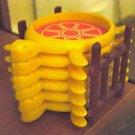 Vintage Plastic Turtle Coasters in Holder #300682
