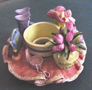 Home Interiors Springtime Open Top Candle Topper #300686