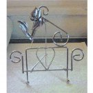 Silver Tone  Heart and Flowers Metal Picture Holder at Periwinkles #300694