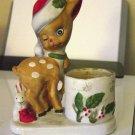 Vintage Jasco 1978 Christmas Luvkins Santa Deer Candleholder #300748