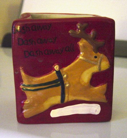 Christmas Dash Away Red Candleholder #300749