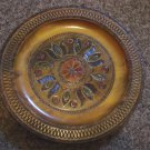 Hand Carved Highly Polished and Decorated Wooden Plate at Periwinkles #300926