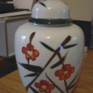 Beautiful Japanese Asian Poppy Flower Ginger Jar   #300945