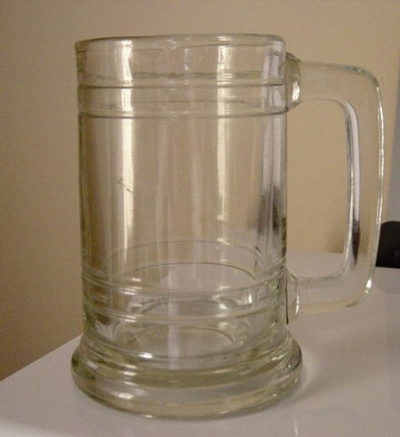 "Clear Glass 5"" Mug Tankard   #300962"