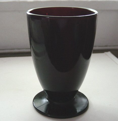 Beautiful Ruby Red  4 Oz. Pedestal Tumbler Glass   #300994