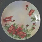 Saxony Fine Delicate China Poppy Flowers Collector Plate #300995