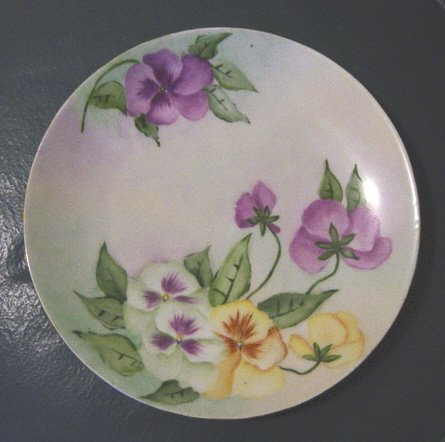 Saxony Saxony Fine Delicate China Collector Plate Pansy Flowers #300996