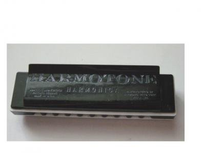 Black Harmotone Harmonica by Hamonic Reed Corp. of Philadelphia #301066