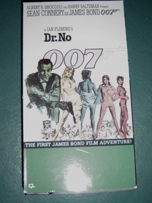 VHS Video Sean Connery as 007 James Bond Dr. No #301202