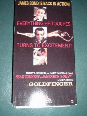 VHS Video Sean Connery as 007 James Bond Goldfinger #301203
