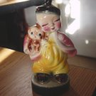 Vintage Porcelain Asian Boy with Puppy Figurine #301228A