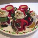 Santas of the World Miniature Tea Set Tray, Teapot, Creamer, Sugar Bowl, Cups and Saucers #301211