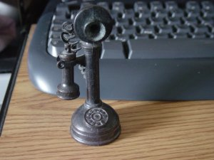 Metal Old Fashioned Telephone Pencil Sharpener #301253
