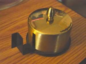 Vintage Brass  Circular Tape Dispenser with Removable Top  #301254