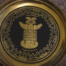 Round Brass Colombia Tequendama Wall Hanging Plaque Signed #301292