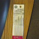 Package of Six Coats Nickel Plated Heavy Yarn Darning Needles #301293