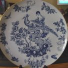 "10"" Blue and White Pheasants Butterfly Bird Flowers Collector Plate #301298"