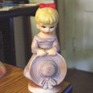 Vintage Little Girl in Lavender Figurine  #301300