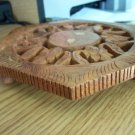 Unusual Hand Carved Wooden Trivit Made in India #301353