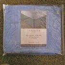 Charter Club Damask Stripe Twilight Blue Full Bed Skirt NEW #301390