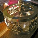 Brass and Glass Potpourri Holder Grape Decorations #301392