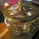 Brass and Glass Potpourri Holder Grape Decorations #301392