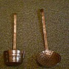 Oversize Metal Wall Art Server Spoon Ladle Hammered Copper   #301467