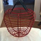 Large Red Metal Wire Apple Shaped Basket   #301471