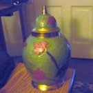 Brass Enamel Cloisonne Flowers on Ginger Jar  #300908