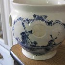 Delfts Blue Handpainted Sailboats and Windmills Planter from Holland #301515