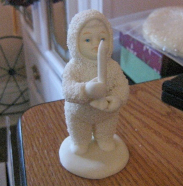 """Dept 56 Snowbabies """"Just One Little Candle"""" Christmas Figurine #301521"""