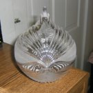 Unusual Crystal Glass Bowl with Lid Shaped Like an Teardrop  #301527
