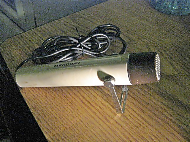"Vintage Old Mercury Hold or Stand Microphone 1/4"" #301563"