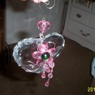 Large Crystal Lucite Heart with Hand Made Decorations #301582