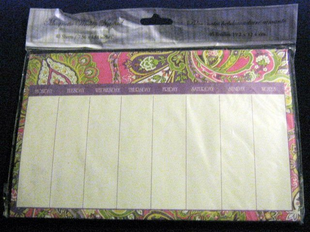 Paisley Magnetic Weekly Notepad 40 sheets #301594