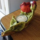 Red Roses on Side Tea Light or Votive Candleholder #301598