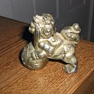 Old Vintage Sliver Plated Foo Dog Design Incense Burner  #301615