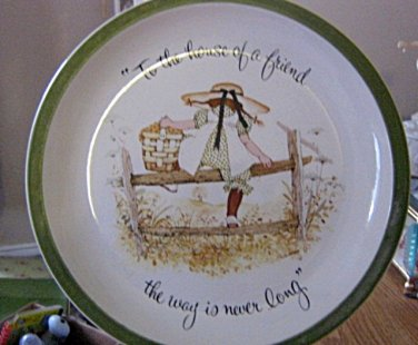 American Greetings Holly Hobbie 1970s Collector Plate To the House of a Friend... #301616