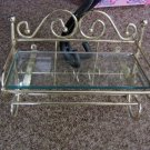Small Brass and Glass Wall Shelf #301620