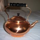 Excellent Copper Teapot with Wooden Handle #301623