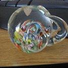 Colorful Art Glass Ardalt Blown Glass Elephant Paperweight Figurine  #301633