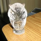 "Vintage 2 3/4"" Tall Clear Glass Owl Figure Paperweight  #301639"